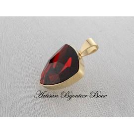 pendentif ARGENT vigatane grenat catalan poire