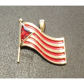 Pendentif drapeau catalan