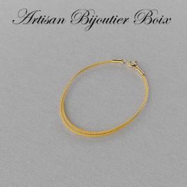 collier cable acier pourpre et or grenat catalan
