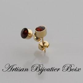 Boucles d'oreilles grenat catalan puce