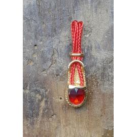 pendentif or 18 carats vigatane grenat catalan poire
