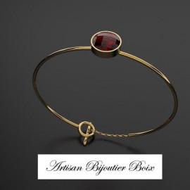 Bracelet articulé or grenat catalan