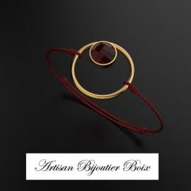 Bracelet rigide or grenat catalan