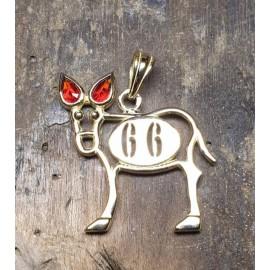 pendentif burro grenat catalan